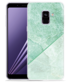 Samsung Galaxy A8 2018 Hoesje Green Marble