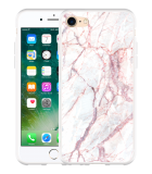 iPhone 7 Hoesje White Pink Marble