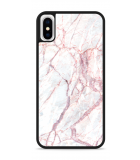 iPhone X Hardcase hoesje White Pink Marble