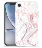 Apple iPhone Xr Hoesje White Pink Marble
