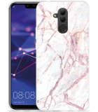 Huawei Mate 20 Lite Hoesje White Pink Marble