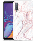 Galaxy A7 2018 Hoesje White Pink Marble