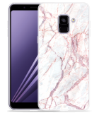 Samsung Galaxy A8 2018 Hoesje White Pink Marble