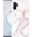 Galaxy Note 10 Plus Hoesje White Pink Marble