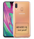 Galaxy A40 Hoesje Music Speaks