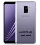 Samsung Galaxy A8 2018 Hoesje Music Speaks