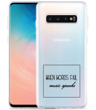 Galaxy S10 Hoesje Music Speaks