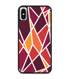 iPhone X Hardcase hoesje Colorful Triangles