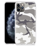 Apple iPhone 11 Pro Hoesje Army Camouflage Grey