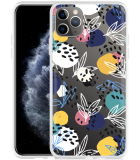 Apple iPhone 11 Pro Max Hoesje Abstract Flowers