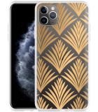 Apple iPhone 11 Pro Max Hoesje Art Deco Gold