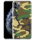 Apple iPhone 11 Pro Max Hoesje Army Camouflage Green