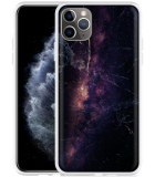 Apple iPhone 11 Pro Max Hoesje Black Space Marble