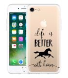 iPhone 7 Hoesje Life is Better with Horses