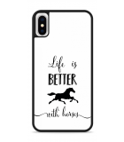 iPhone X Hardcase hoesje Life is Better with Horses