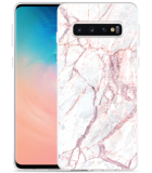 Galaxy S10 Hoesje White Pink Marble