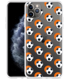 Apple iPhone 11 Pro Max Hoesje Soccer Ball Orange Shadow