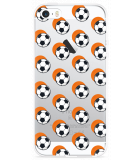 iPhone 5/5S/SE Hoesje Soccer Ball Orange Shadow