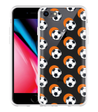 iPhone 8 Hoesje Soccer Ball Orange Shadow
