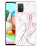 Samsung Galaxy A71 Hoesje White Pink Marble