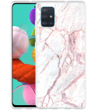 Samsung Galaxy A51 Hoesje White Pink Marble