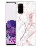Samsung Galaxy S20 Hoesje White Pink Marble