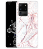 Samsung Galaxy S20 Ultra Hoesje White Pink Marble