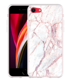 iPhone SE 2020 Hoesje White Pink Marble