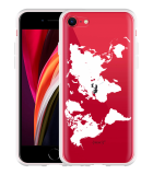 iPhone SE 2020 Hoesje World Map