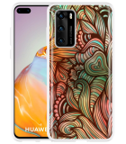 Huawei P40 Hoesje Abstract colorful