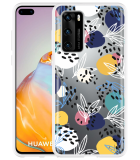Huawei P40 Hoesje Abstract Flowers