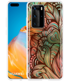 Huawei P40 Pro Hoesje Abstract colorful