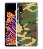 Samsung Galaxy Xcover Pro Hoesje Army Camouflage Green