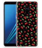 Samsung Galaxy A8 2018 Hoesje Kersen