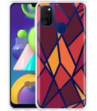 Samsung Galaxy M21 Hoesje Colorful Triangles