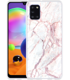 Samsung Galaxy A31 Hoesje White Pink Marble