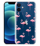 Apple iPhone 12 Hoesje Flamingo