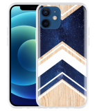 Apple iPhone 12 Hoesje Space wood