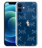 Apple iPhone 12 Hoesje Geometric Cats