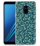 Samsung Galaxy A8 2018 Hoesje Blaadjespatroon