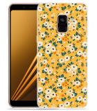 Samsung Galaxy A8 2018 Hoesje Vintage Bloemenprint