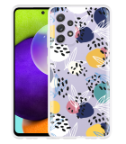 Samsung Galaxy A52 Hoesje Abstract Flowers