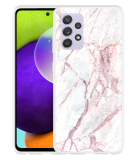 Samsung Galaxy A52 Hoesje White Pink Marble