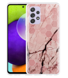 Samsung Galaxy A52 Hoesje Pink Marble