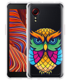 Samsung Galaxy Xcover 5 Hoesje Colorful Owl Artwork
