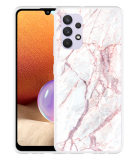 Samsung Galaxy A32 4G Hoesje White Pink Marble