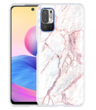 Xiaomi Redmi Note 10 5G Hoesje White Pink Marble