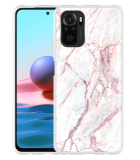 Xiaomi Redmi Note 10 4G Hoesje White Pink Marble