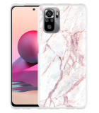 Xiaomi Redmi Note 10S Hoesje White Pink Marble