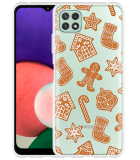 Samsung Galaxy A22 5G Hoesje Christmas Cookies